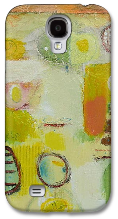 Galaxy S4 Case featuring the painting Abstract Life 2 by Habib Ayat