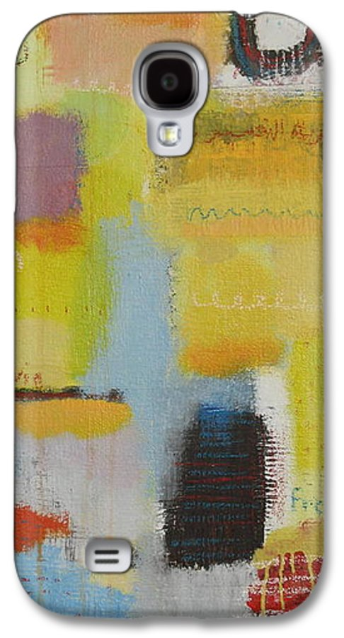Abstract Galaxy S4 Case featuring the painting Abstract Life 3 by Habib Ayat