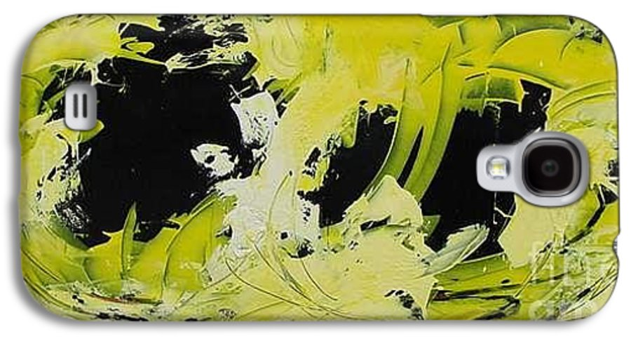 Abstract Galaxy S4 Case featuring the painting Abstract Nature by Mario Zampedroni