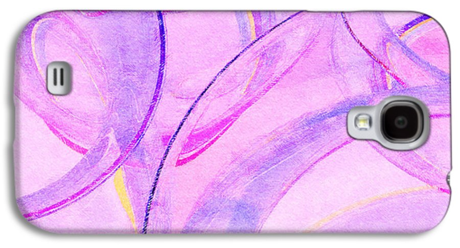 Glass Galaxy S4 Case featuring the painting Abstract Number 20 by Peter J Sucy