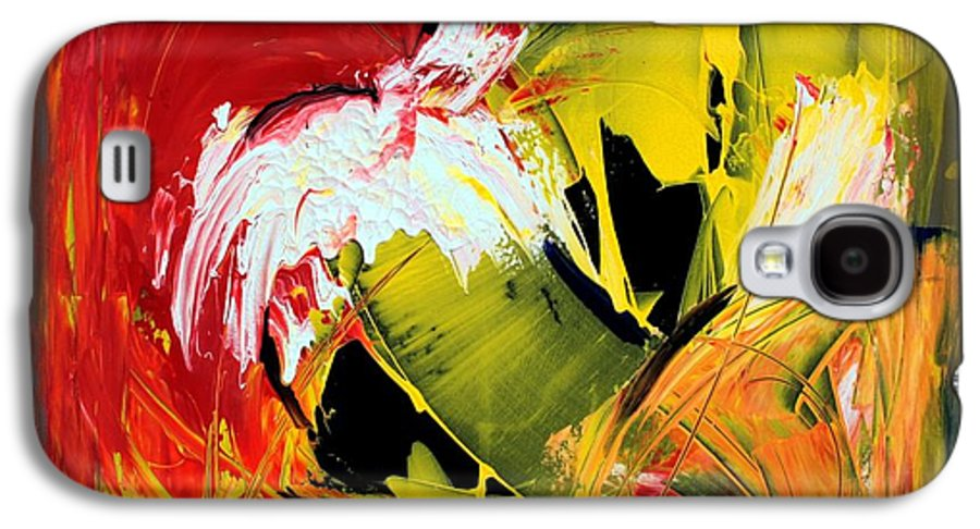 Abstarct Galaxy S4 Case featuring the painting Abstract Painting by Mario Zampedroni