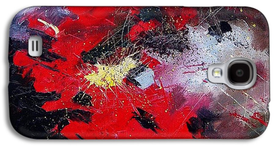 Abstract Galaxy S4 Case featuring the painting Abstract070406 by Pol Ledent