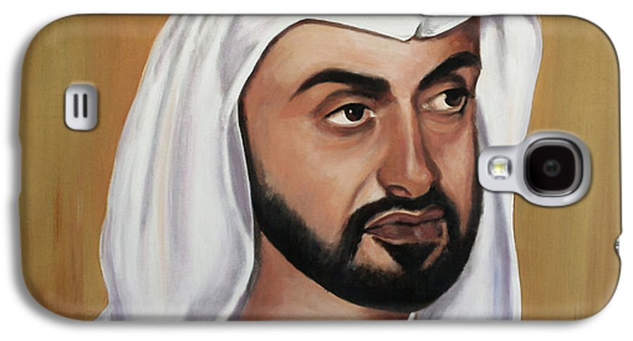 Abu Dhabi Galaxy S4 Case featuring the painting Abu Dhabi Crown Prince by Fiona Jack
