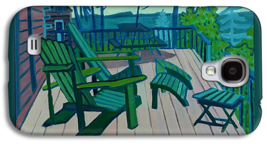 Ocean Galaxy S4 Case featuring the painting Adirondack Chairs Maine by Debra Bretton Robinson