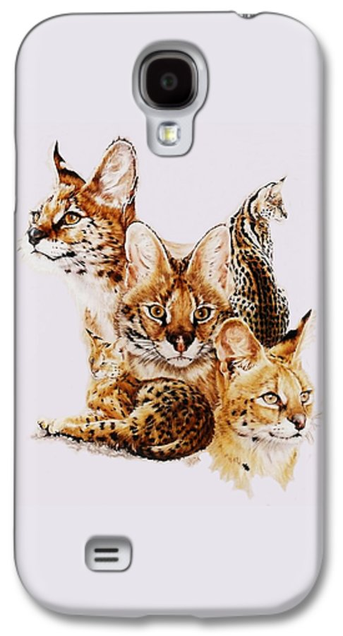 Serval Galaxy S4 Case featuring the drawing Adroit by Barbara Keith