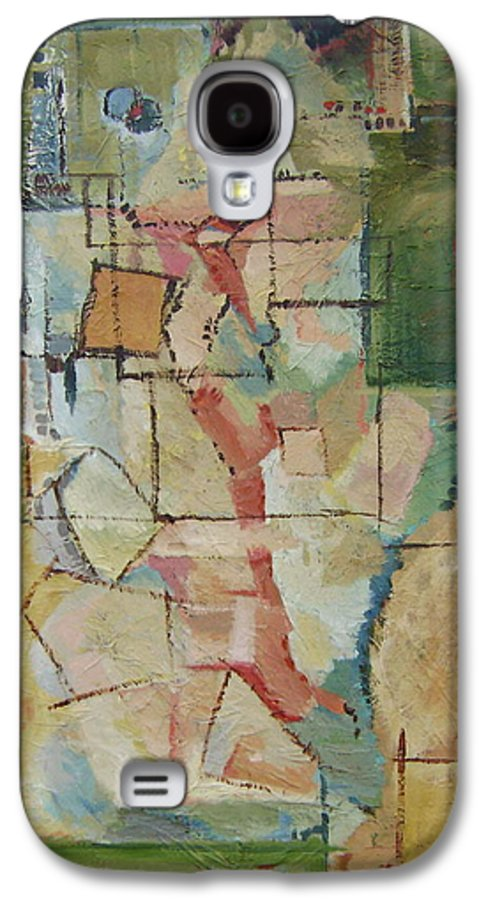 Abstract Art Galaxy S4 Case featuring the painting Aerial by Ginger Concepcion