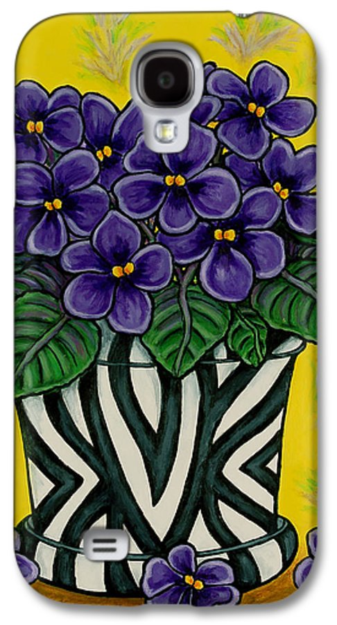 Violets Galaxy S4 Case featuring the painting African Queen by Lisa Lorenz