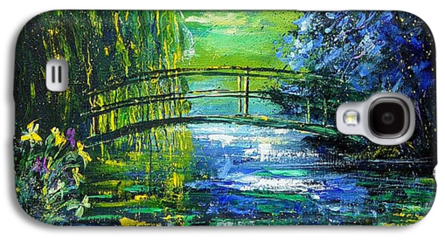 Pond Galaxy S4 Case featuring the painting After Monet by Pol Ledent