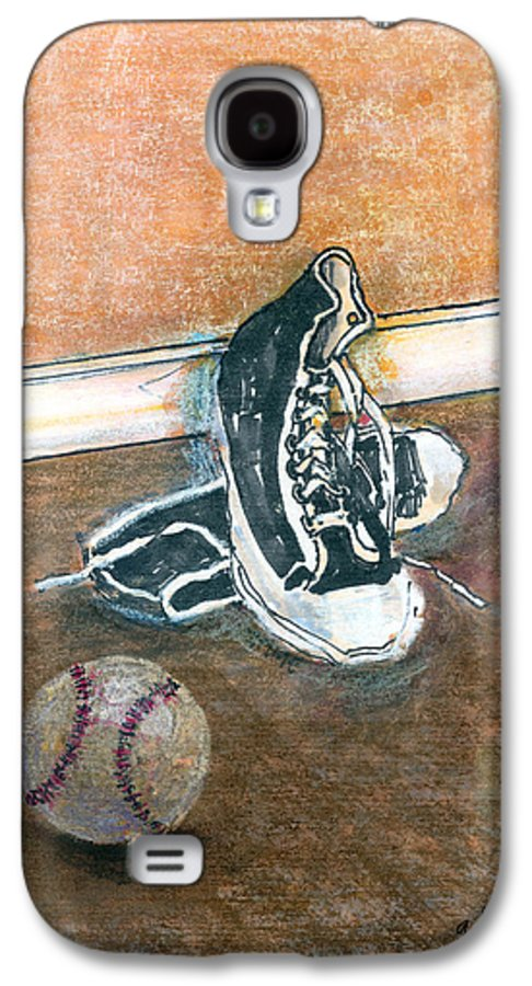 Tennis Shoes Galaxy S4 Case featuring the mixed media After The Game by Arline Wagner