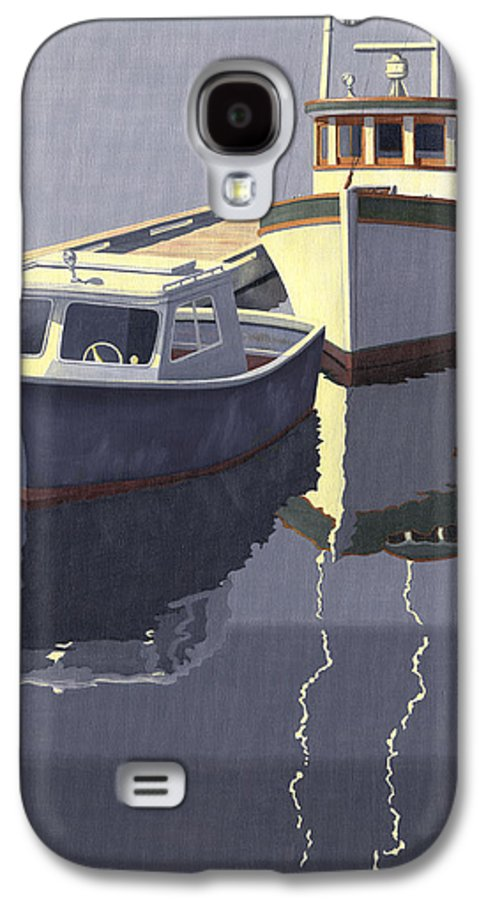 Boat Galaxy S4 Case featuring the painting After The Rain by Gary Giacomelli
