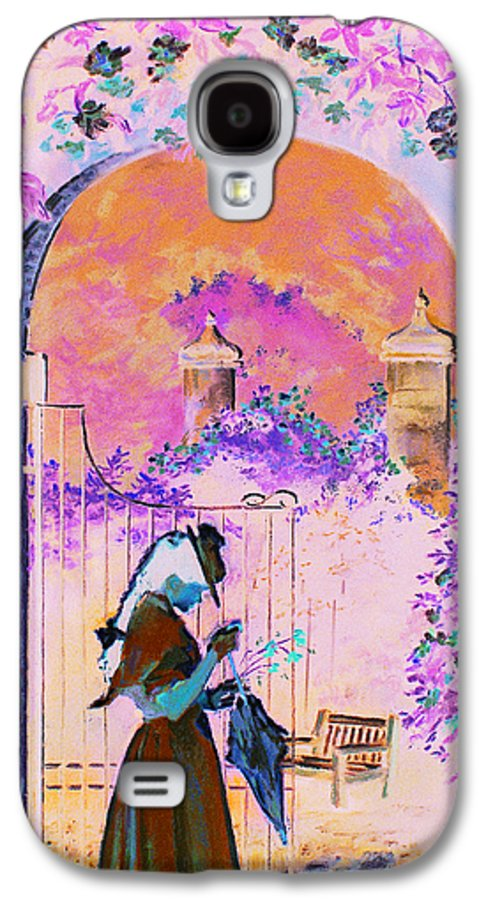 Rose Galaxy S4 Case featuring the painting Afternoon Stroll by Jean Hildebrant