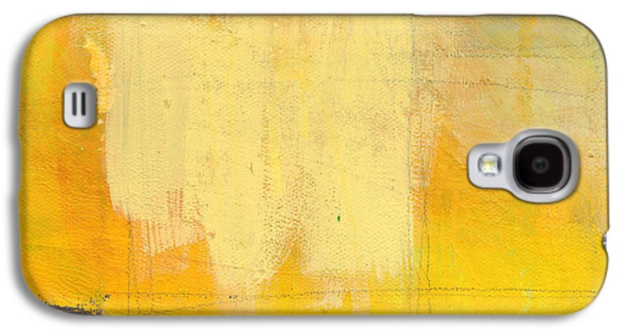 Abstract Galaxy S4 Case featuring the painting Afternoon Sun -large by Linda Woods