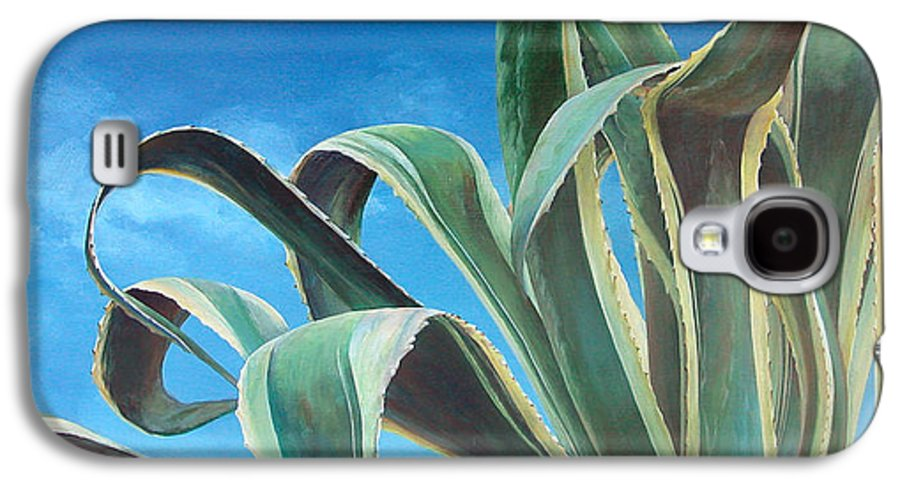 Floral Painting Galaxy S4 Case featuring the painting Agave by Muriel Dolemieux