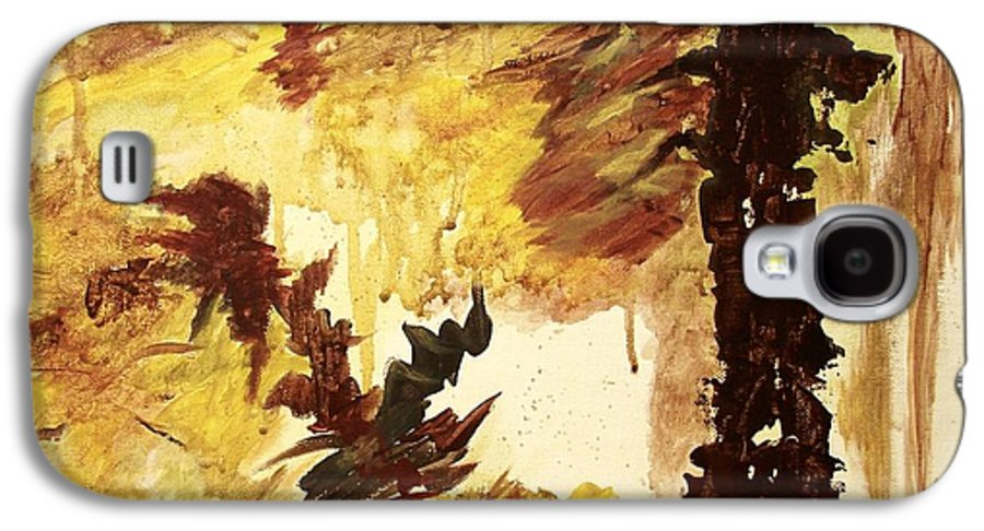 Abstract Galaxy S4 Case featuring the painting Age Of The Fall by Itaya Lightbourne