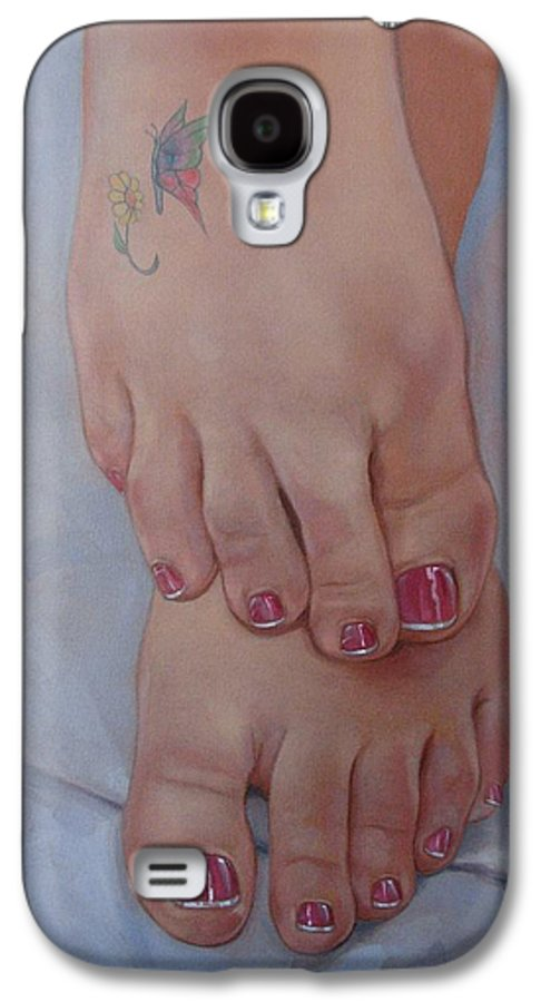 Pretty Feet Galaxy S4 Case featuring the painting Aimee by Jerrold Carton