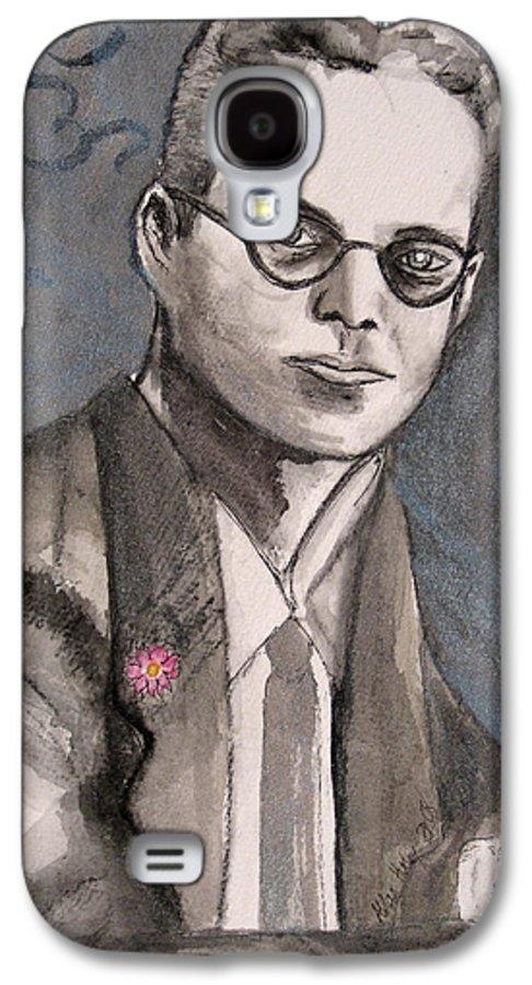 Aldous Brave Darkestartist Huxley New Painting Portrait Watercolor Watercolour World Galaxy S4 Case featuring the painting Aldous Huxley by Darkest Artist