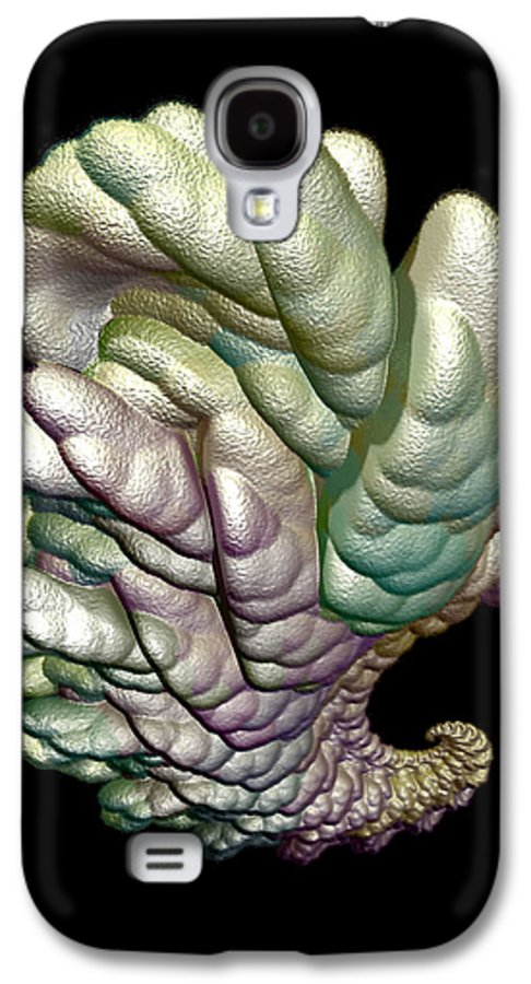 Fractal Galaxy S4 Case featuring the digital art Alien Brain by Frederic Durville