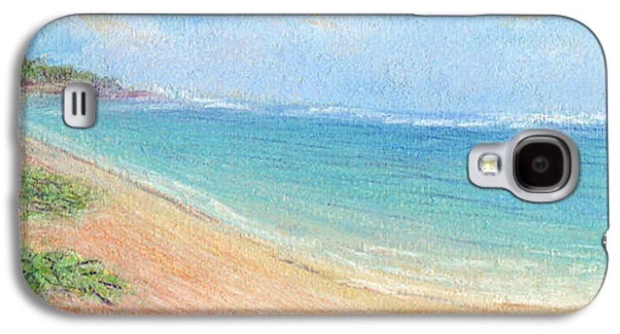 Rainbow Colors Pastel Galaxy S4 Case featuring the painting Aliomanu Beach by Kenneth Grzesik