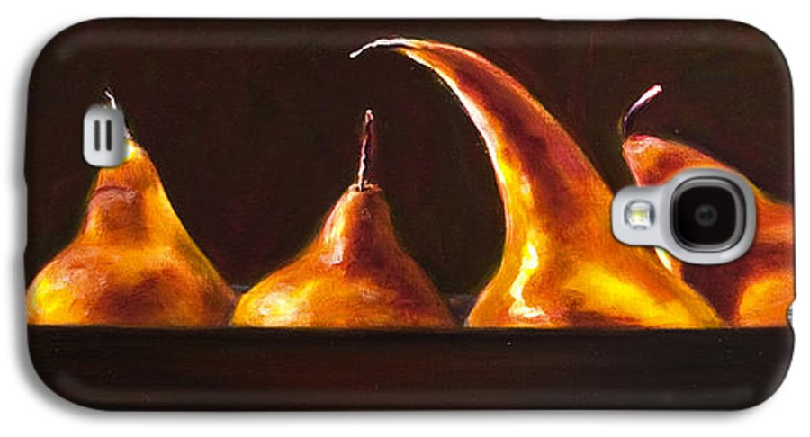Pears Galaxy S4 Case featuring the painting All Aboard by Shannon Grissom