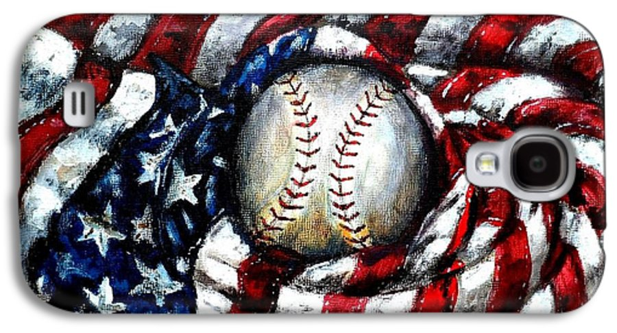 America Galaxy S4 Case featuring the painting All American by Shana Rowe Jackson