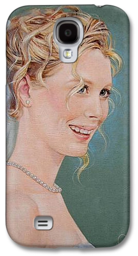 Wedding Galaxy S4 Case featuring the painting Allison by Jerrold Carton