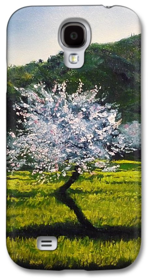 Almond Tree Galaxy S4 Case featuring the painting Almond Tree In Blossom by Lizzy Forrester