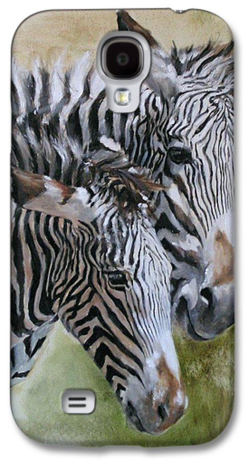 Wildlife Art Galaxy S4 Case featuring the painting Almost Grown by Debra Jones