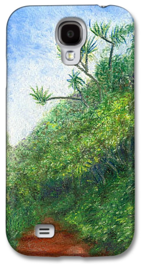 Coastal Decor Galaxy S4 Case featuring the painting Along The Trail by Kenneth Grzesik
