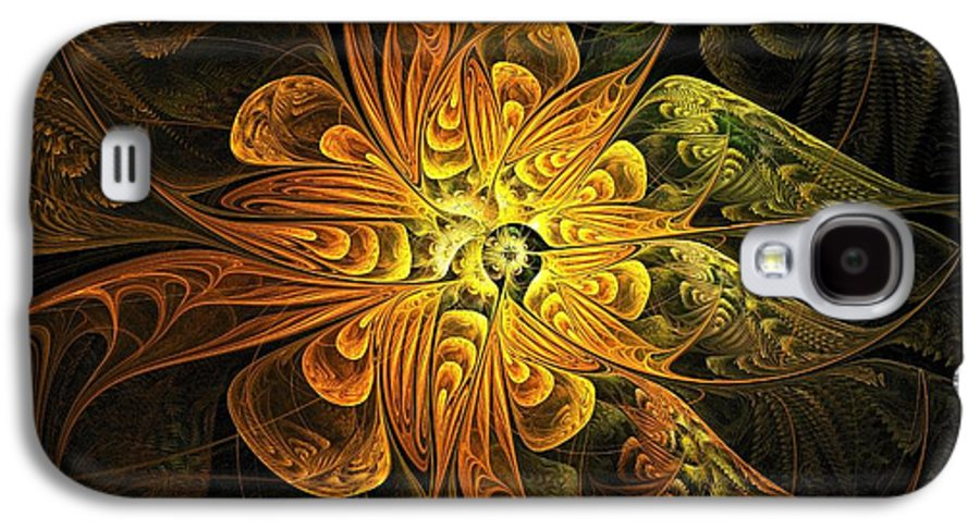 Digital Art Galaxy S4 Case featuring the digital art Amber Light by Amanda Moore