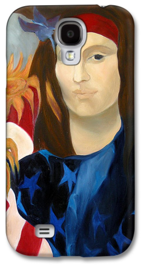 Figurative Galaxy S4 Case featuring the painting American Jokonda by Antoaneta Melnikova- Hillman