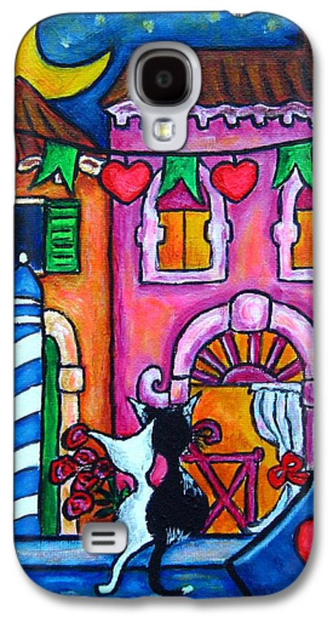 Cats Galaxy S4 Case featuring the painting Amore In Venice by Lisa Lorenz