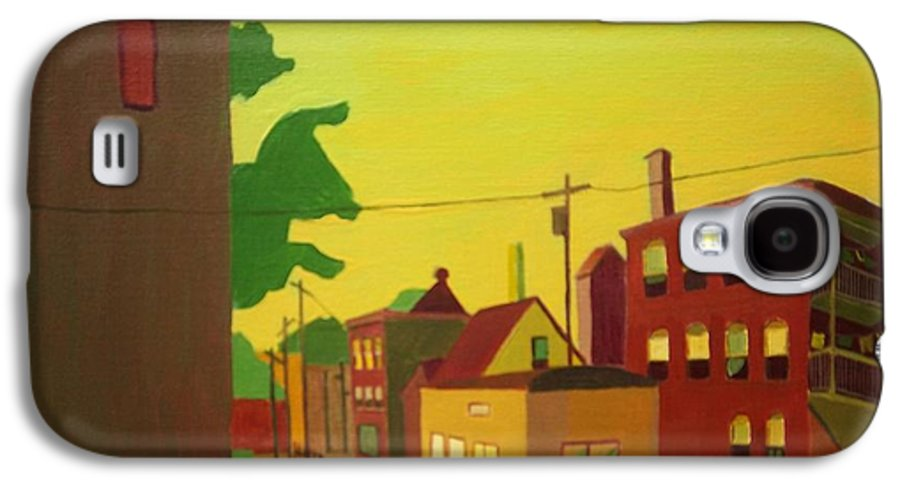 Jamaica Plain Galaxy S4 Case featuring the painting Amory Street Jamaica Plain by Debra Bretton Robinson