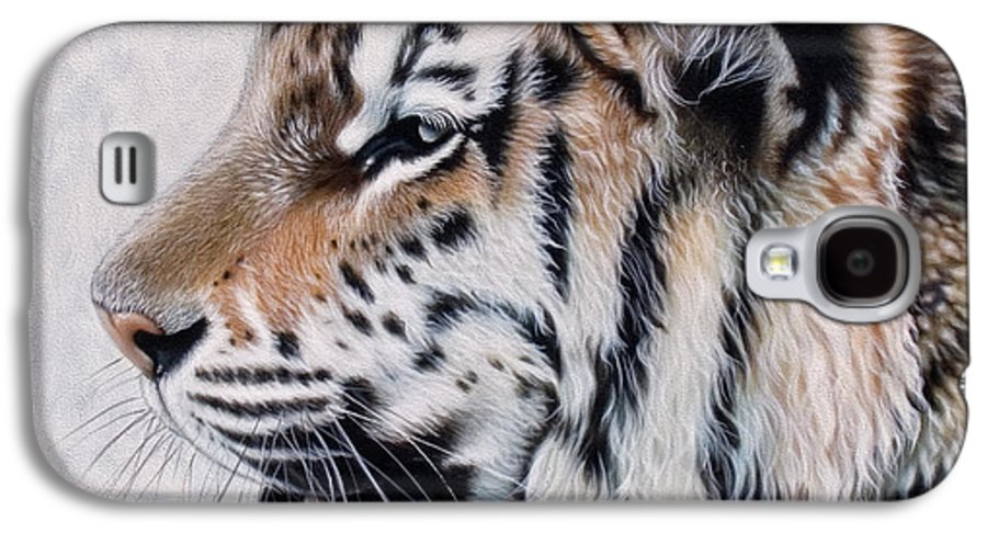 Acrylic Galaxy S4 Case featuring the painting Amur by Sandi Baker