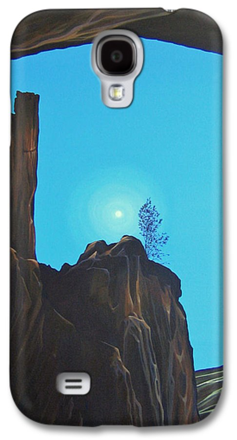 New Mexico Galaxy S4 Case featuring the painting Anasazi Dreams by Hunter Jay