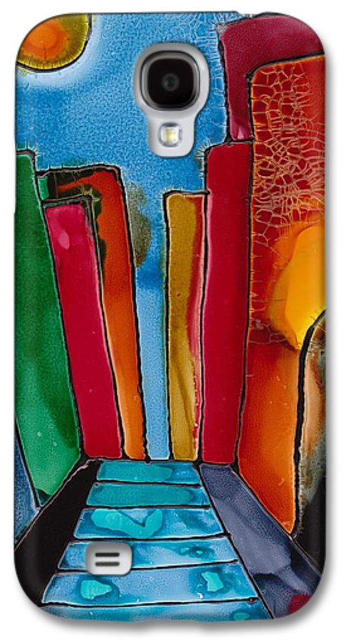 City Galaxy S4 Case featuring the mixed media Ancient City by Susan Kubes