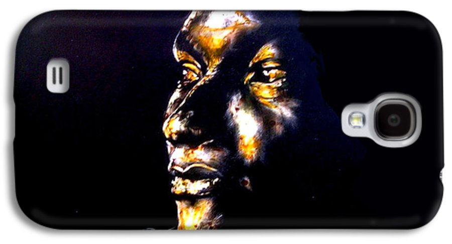 Galaxy S4 Case featuring the mixed media And Then Our Eyes Met by Chester Elmore