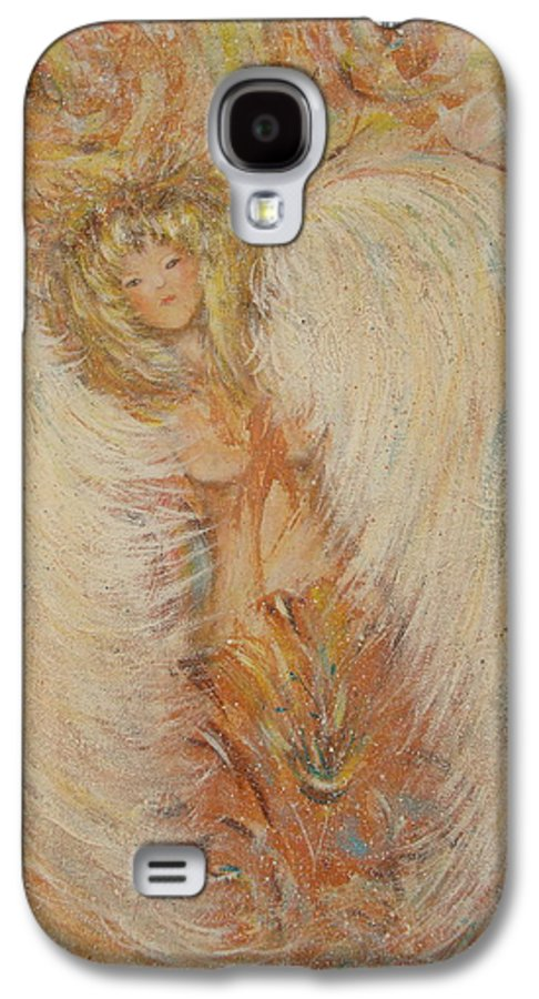 Angel Galaxy S4 Case featuring the painting Angel Loves You by Natalie Holland