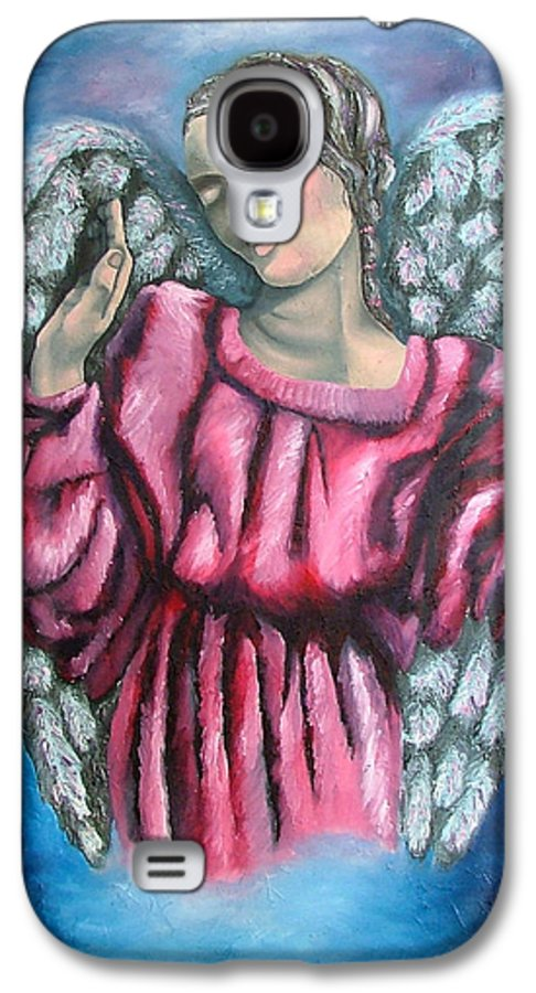 Angel Galaxy S4 Case featuring the painting Angel Of Hope by Elizabeth Lisy Figueroa