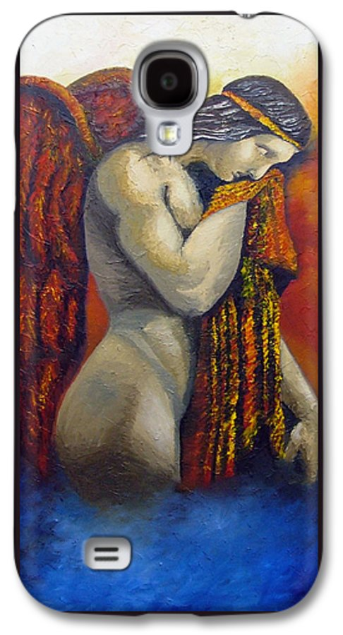 Angel Galaxy S4 Case featuring the painting Angel Of Love by Elizabeth Lisy Figueroa