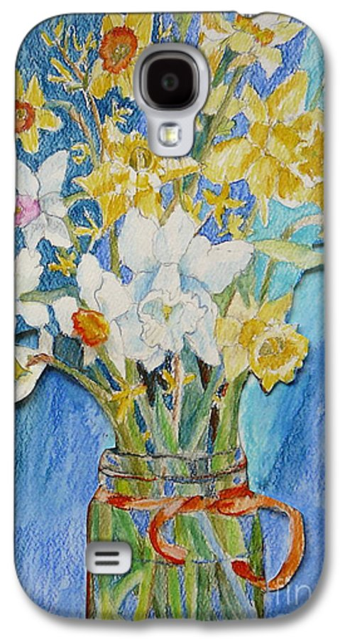 Flowers Galaxy S4 Case featuring the painting Angels Flowers by Jan Bennicoff