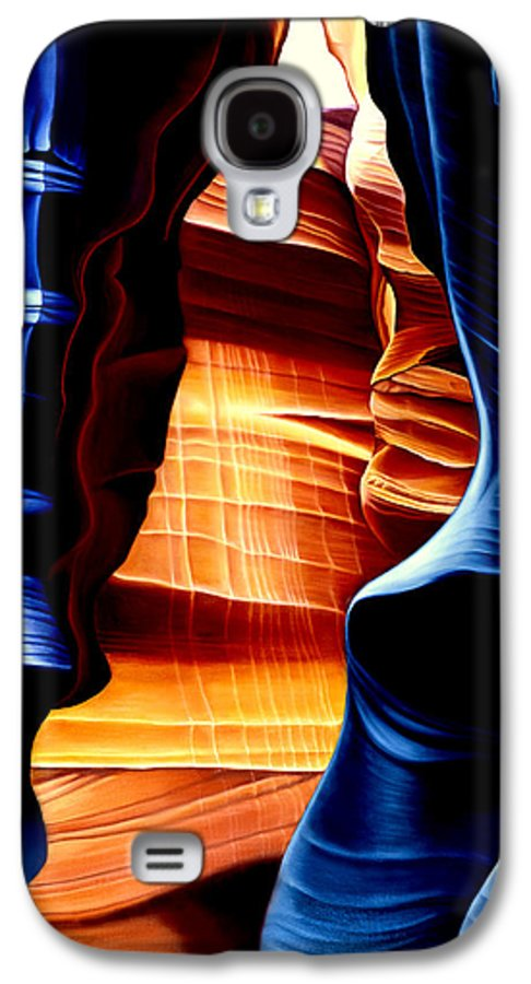 Landscape Galaxy S4 Case featuring the painting Antelope Canyon by Anni Adkins
