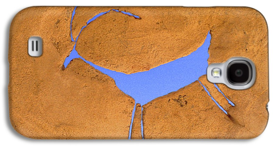 Anasazi Galaxy S4 Case featuring the photograph Antelope Petroglyph by Jerry McElroy