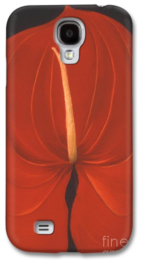 Anthurium Galaxy S4 Case featuring the painting Anthurium by Mary Erbert