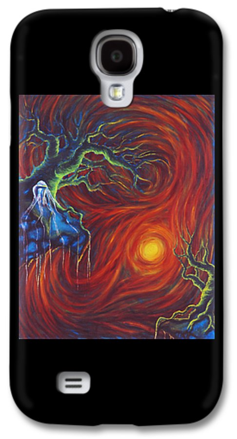 Tree Paintings Galaxy S4 Case featuring the painting Anxiety by Jennifer McDuffie