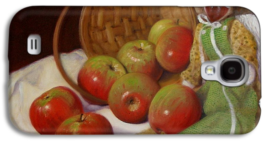 Realism Galaxy S4 Case featuring the painting Apple Annie by Donelli DiMaria