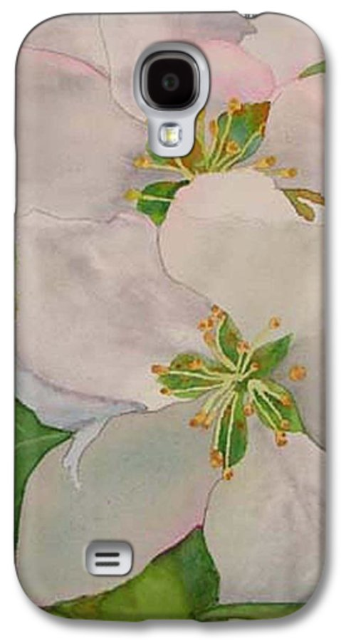 Apple Blossoms Galaxy S4 Case featuring the painting Apple Blossoms by Sharon E Allen