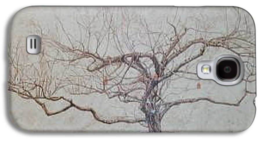Apple Tree Galaxy S4 Case featuring the painting Apple Tree In Winter by Leah Tomaino
