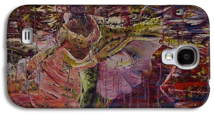 Portrait Galaxy S4 Case featuring the painting April 29th. by Peggy Blood