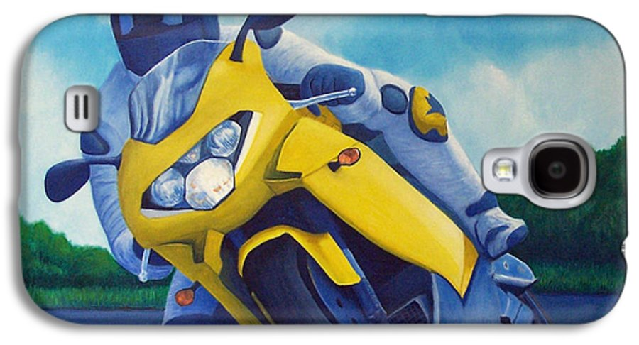 Motorcycle Galaxy S4 Case featuring the painting Aprilla - Tuesday Afternoon by Brian Commerford
