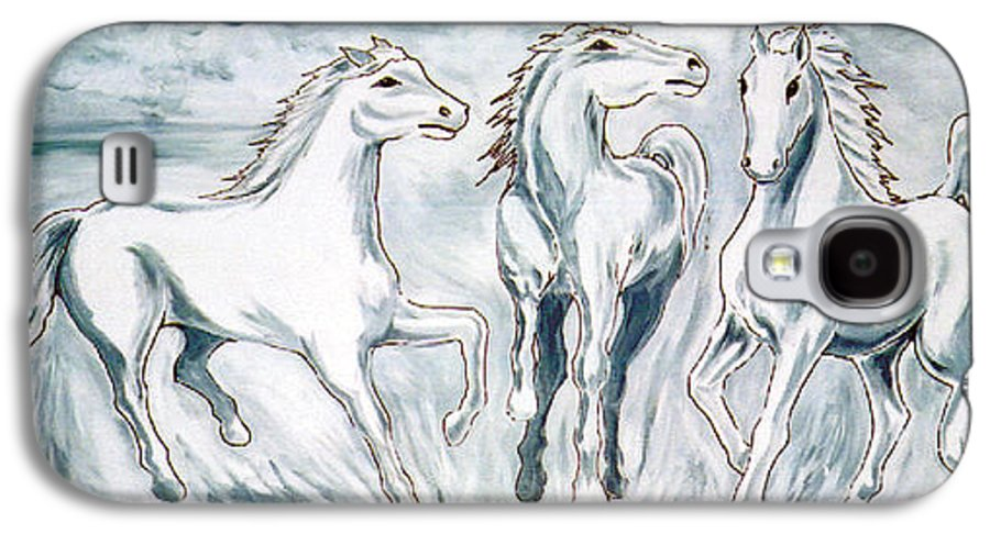 Horses Galaxy S4 Case featuring the painting Arabian Roots by Marco Morales